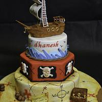 'pirate' themed birthday cake by designed by mani