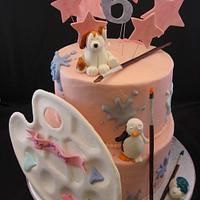 Paint a piece cake