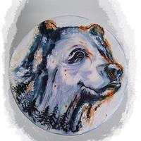 Hand painted bear