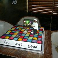 dance floor cake - with lights