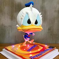 Donald Duck Defying cake
