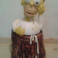 Homer simpsons cake