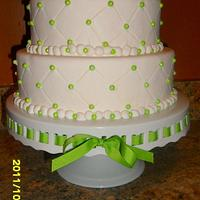 a wedding cake by Linda