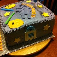 Boys Star Wars Theme Birthday Cake by Vilma