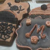Vintage rose cookies