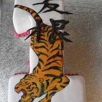 Tiger Birthday Cake by David Mason