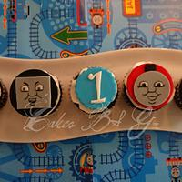 Thomas and Friends cupcakes by Laura Barajas