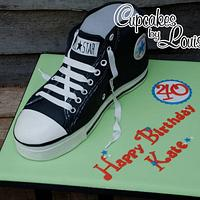 Converse high top boot cake