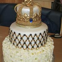 50th Birthday King's Crown cake