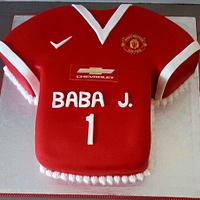 Manchester United Jersey cake