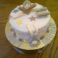 Gymnastics cake by Toni Lally