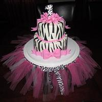 Hot Pink Zebra Print 1st Birthday!
