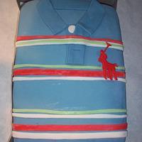 Ralph Lauren Shirt Cake  by cakes by khandra
