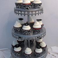 Black & White Bridal Shower Cupcakes by Becky Pendergraft