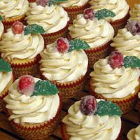 Sugared Cranberry Cupcakes