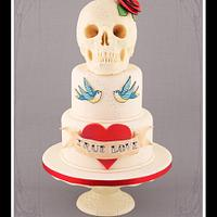 Rockabilly Romance - Tattoo Cake