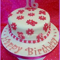 Simple 16th Birthday Cake