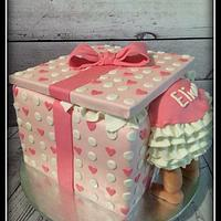 What a sweet gift Baby Shower Cake