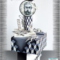 """Primavera con Arte"" Collab - M.C Escher by Mayer Rosales | mayer's cakes"
