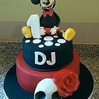 Mickey Mouse and Skull Cake