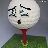 Anxious Golf Ball Cake by Sugar Duckie (Maria McDonald)