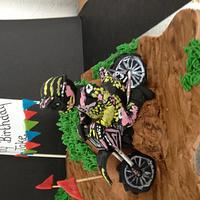 Motor cross cake  by Bubba's cakes