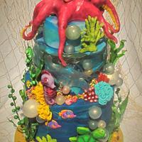 Under water  UV celebration cake