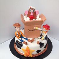 Toy Story Cake with Jessie and Woodie