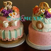 Girly Victorian Inspired Cakes
