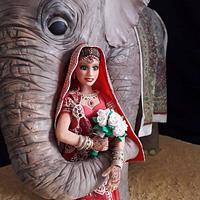 bride and elephant by Karin Rachell Saade Morad