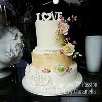 Love - Spring wedding cake