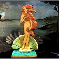 Colaboración primavera con arte (El nacimiento de Venus) Botticeli