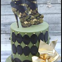 Camo Boots Cake. by Cakes By Julie