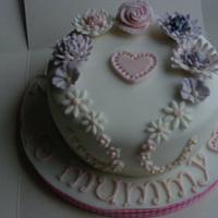 Floral Heart cake by Love it cakes