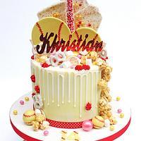 Girls Softball Drip Cake