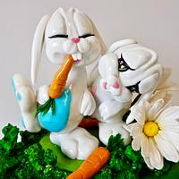 Isomalt Joyful Bunnies