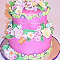 Fairy and Flower cake