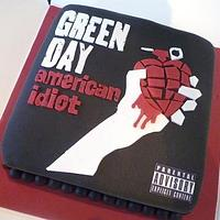 Green Day album Cover cake