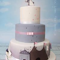 Festival Wedding Cake