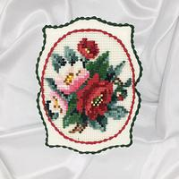 Cross stitch embroidery royal icing cookie
