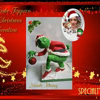 Fondant cake toppers sweet christmas collaboration The Grinch