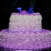 Purple Ombre Birthday Cake
