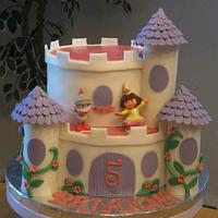 Dora the Explorer Castle Cake