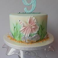 Betta splendens fish cake