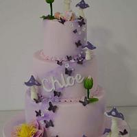 Fairy cristening cake.