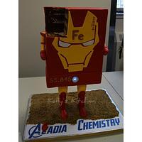 Iron (Fe) Man cake by Kelly Stevens