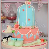 Birdcage Baby Shower Cake