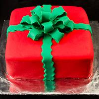 Present Cake with Bow