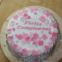 Spanish Happy Birthday Cake
