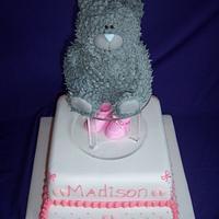 Girly Tatty Christening by Custom Cakes